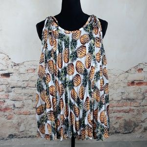 Nicole by Nicole Miller XL Tropical Pineapple Top